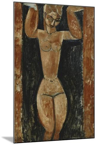 Caryatid; Cariatide, C.1911-1913-Amedeo Modigliani-Mounted Giclee Print