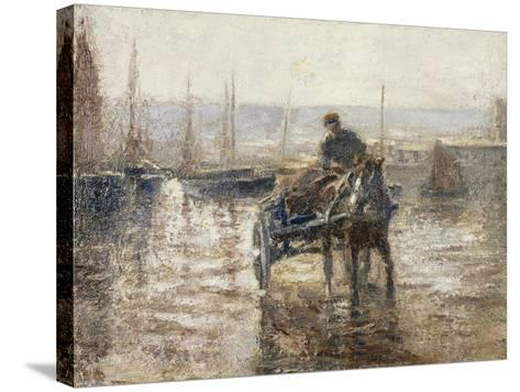 On the Harbour-Harry Fidler-Stretched Canvas Print