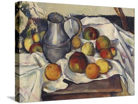 Still Life with Apples; Stilleben Mit Apfeln-Emil Orlik-Stretched Canvas Print