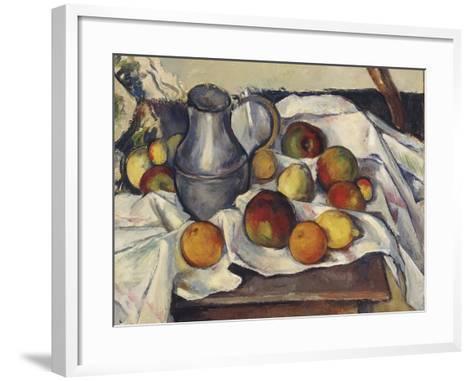 Still Life with Apples; Stilleben Mit Apfeln-Emil Orlik-Framed Art Print
