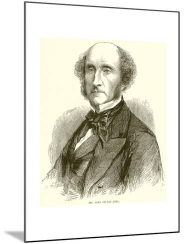 Mr. John Stuart Mill--Mounted Giclee Print