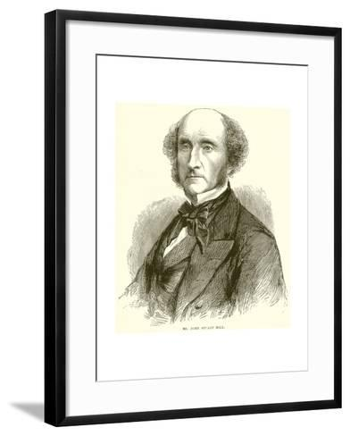 Mr. John Stuart Mill--Framed Art Print