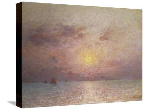 Sailing on the Sea, Evening; Voiliers Sur La Mer, Le Soir-Fernand Loyen du Puigaudeau-Stretched Canvas Print