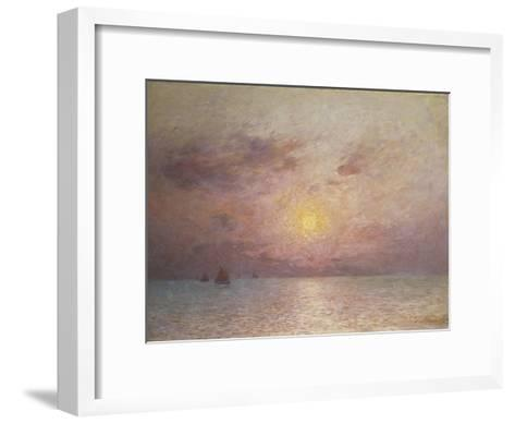Sailing on the Sea, Evening; Voiliers Sur La Mer, Le Soir-Fernand Loyen du Puigaudeau-Framed Art Print