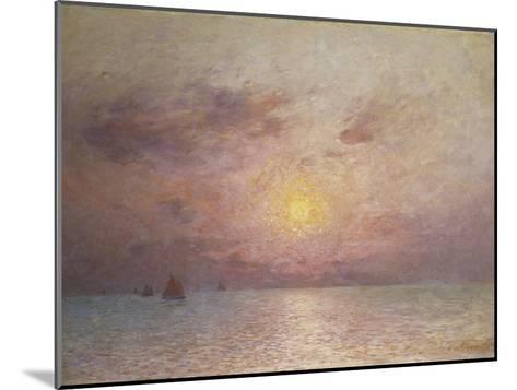Sailing on the Sea, Evening; Voiliers Sur La Mer, Le Soir-Fernand Loyen du Puigaudeau-Mounted Giclee Print