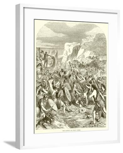 The Landing of Julius Caesar--Framed Art Print