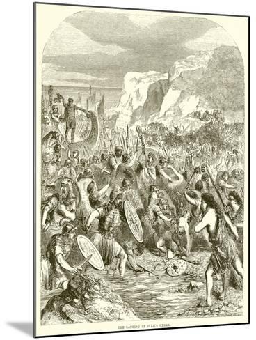 The Landing of Julius Caesar--Mounted Giclee Print