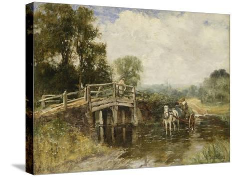 At the Crossing-Henry John Yeend King-Stretched Canvas Print