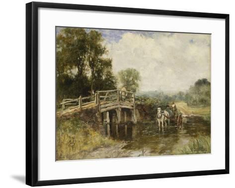 At the Crossing-Henry John Yeend King-Framed Art Print