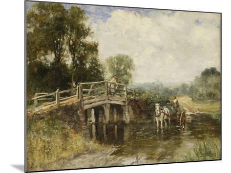 At the Crossing-Henry John Yeend King-Mounted Giclee Print