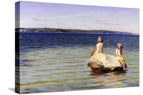 Mermaids-Harald Slott-Moller-Stretched Canvas Print