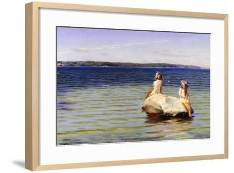 Mermaids-Harald Slott-Moller-Framed Art Print