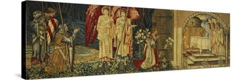 The Achievement of the Holy Grail by Sir Galahad, Sir Bors and Sir Percival-Edward Burne-Jones-Stretched Canvas Print