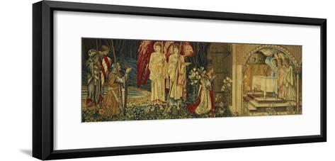 The Achievement of the Holy Grail by Sir Galahad, Sir Bors and Sir Percival-Edward Burne-Jones-Framed Art Print