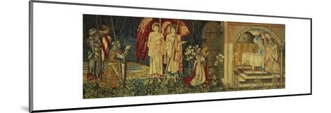 The Achievement of the Holy Grail by Sir Galahad, Sir Bors and Sir Percival-Edward Burne-Jones-Mounted Giclee Print