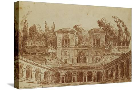 The Villa Farnese, Rome-Hubert Robert-Stretched Canvas Print