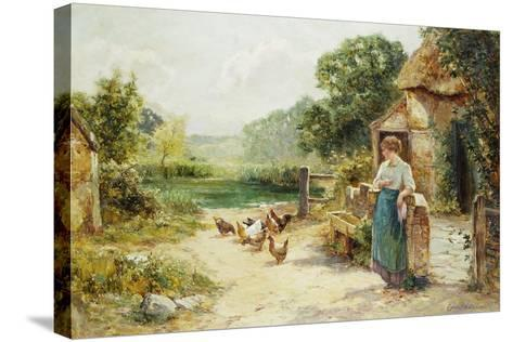 Feeding Time-Ernest Walbourn-Stretched Canvas Print