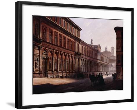 The Ca' Grande in the Via Festa Del Perdona, with S, 1842-Luigi Premazzi-Framed Art Print