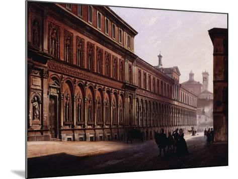 The Ca' Grande in the Via Festa Del Perdona, with S, 1842-Luigi Premazzi-Mounted Giclee Print