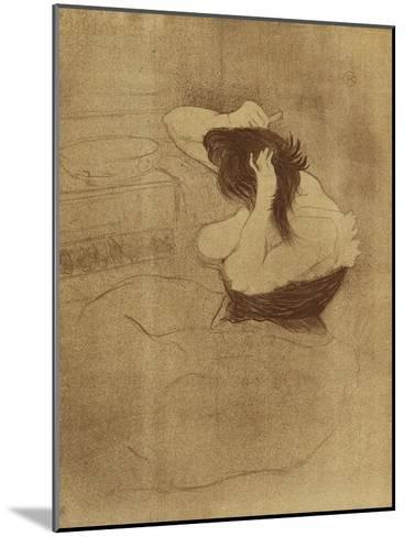 Woman Combing Her Hair - La Coiffure, Plate VII from Elles; Femme Qui Se Peigne - La Coiffure,?-Henri de Toulouse-Lautrec-Mounted Giclee Print