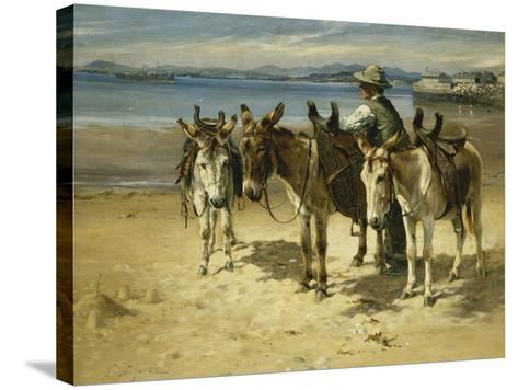 On the Sands, Morecombe-William Woodhouse-Stretched Canvas Print