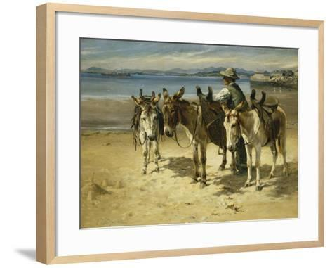 On the Sands, Morecombe-William Woodhouse-Framed Art Print