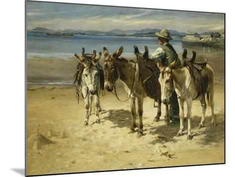 On the Sands, Morecombe-William Woodhouse-Mounted Giclee Print