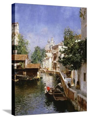 A Venetian Canal Scene-Rubens Santoro-Stretched Canvas Print