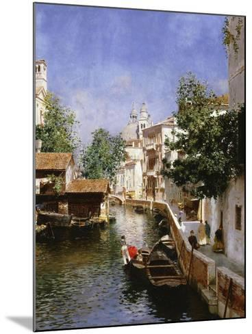 A Venetian Canal Scene-Rubens Santoro-Mounted Giclee Print