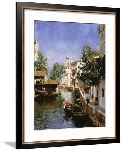 A Venetian Canal Scene-Rubens Santoro-Framed Art Print