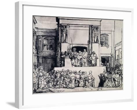 Christ Presented to the People, 1655-Rembrandt van Rijn-Framed Art Print