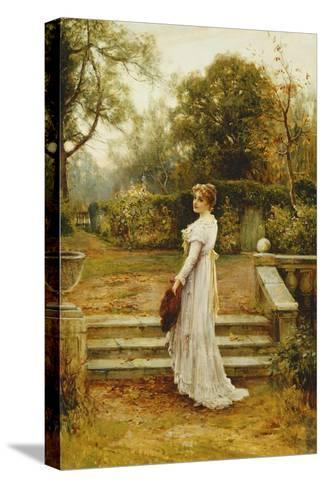 A Stroll in the Garden-Ernest Walbourn-Stretched Canvas Print