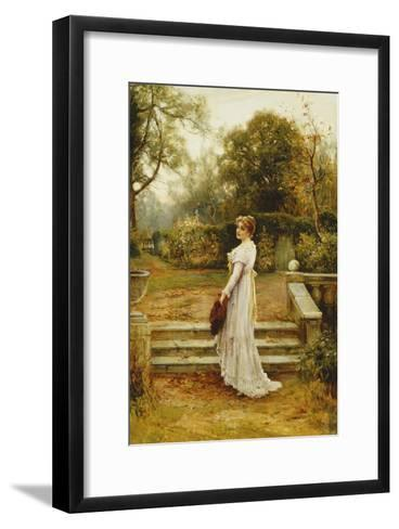 A Stroll in the Garden-Ernest Walbourn-Framed Art Print