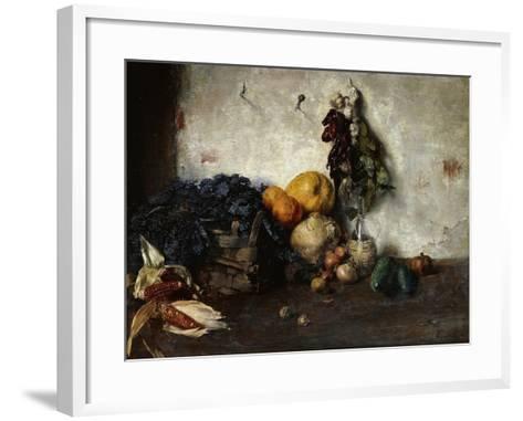 A Still-Life of Vegetables by a Wall, 1890-Albin Egger-lienz-Framed Art Print
