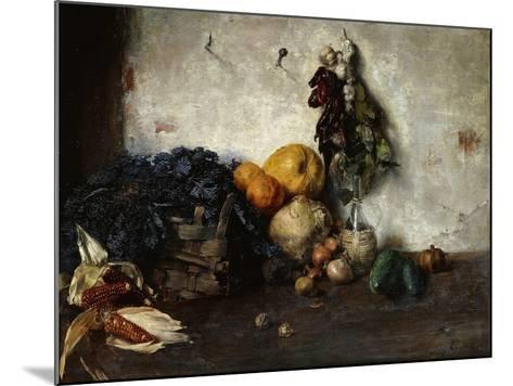 A Still-Life of Vegetables by a Wall, 1890-Albin Egger-lienz-Mounted Giclee Print