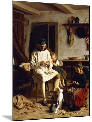 Family Chores, 1859-Friedrich Edouard Meyerheim-Mounted Giclee Print