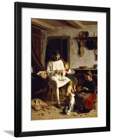 Family Chores, 1859-Friedrich Edouard Meyerheim-Framed Art Print