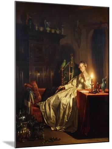 A Candlelit Interior with a Lady Seated at a Table, 1865-Petrus van Schendel-Mounted Giclee Print