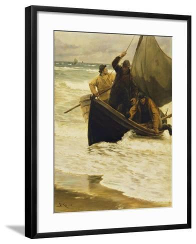 Fisherman Returning Home, Skagen, 1885-Peder Severin Kr?yer-Framed Art Print