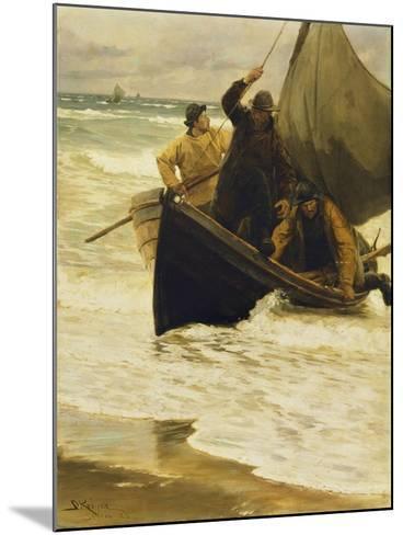 Fisherman Returning Home, Skagen, 1885-Peder Severin Kr?yer-Mounted Giclee Print