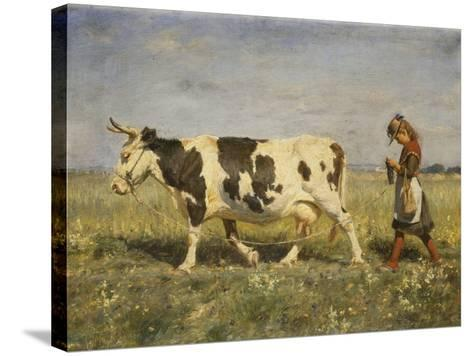 Off to Market, 1892-Michael Therkildsen-Stretched Canvas Print