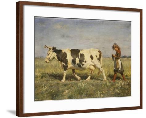 Off to Market, 1892-Michael Therkildsen-Framed Art Print