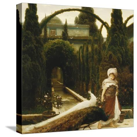 Moorish Garden; a Dream of Granada-Frederick Leighton-Stretched Canvas Print
