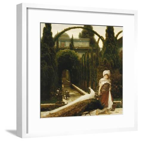 Moorish Garden; a Dream of Granada-Frederick Leighton-Framed Art Print