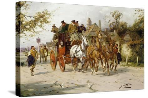 The Oxford to London Mail-George Wright-Stretched Canvas Print