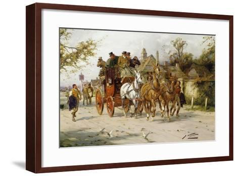 The Oxford to London Mail-George Wright-Framed Art Print