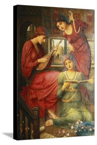 In the Golden Days-John Melhuish Strudwick-Stretched Canvas Print