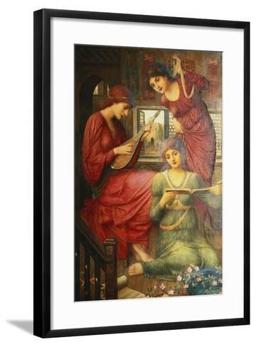 In the Golden Days-John Melhuish Strudwick-Framed Art Print