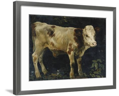 A Bull Calf, 1876-Christian Eriksen Skredsvig-Framed Art Print