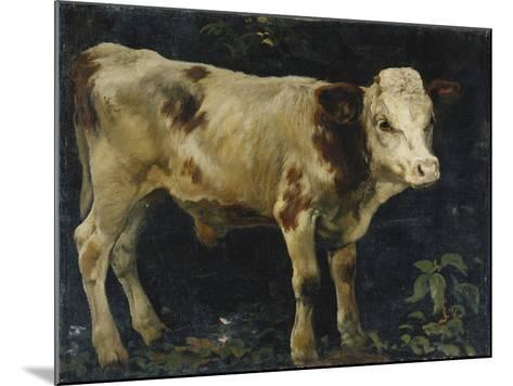 A Bull Calf, 1876-Christian Eriksen Skredsvig-Mounted Giclee Print